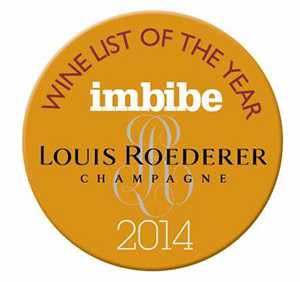 Imbibe - Wine List Of The Year 2014
