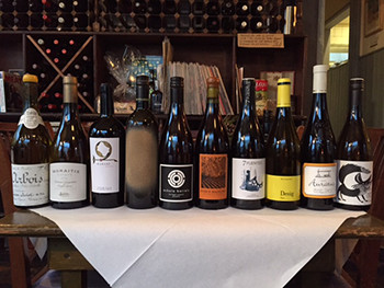 A selection of wines from our award-winning wine list